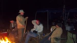 Saturday night in camp